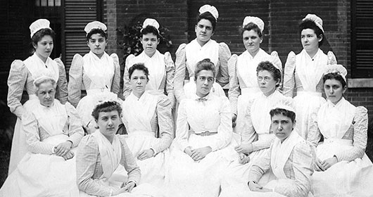 Historical Photo of Nursing Class