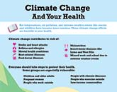 Climate change and your health infographic