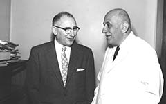 Beth Israel began clinical trials to prove efficacy of methadone treatment. Drs. Hans Popper and Fenton Schaffner are considered the founding fathers of hepatology. Popper became the Mount Sinai School of Medicine's first dean of Academic Affairs.