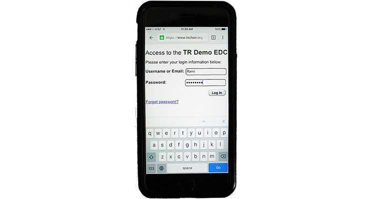 Photo of EDC Functions on a Mobile device
