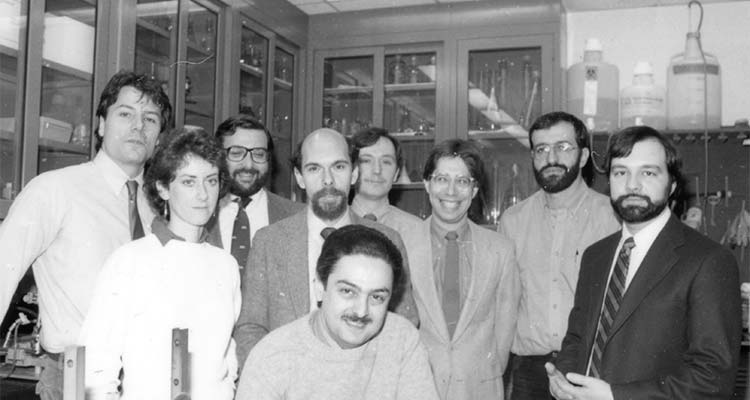 Image of the original Alzheimer's Disease Research Center team circa 1985