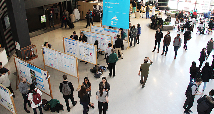 Aerial view of medical students at Research Day