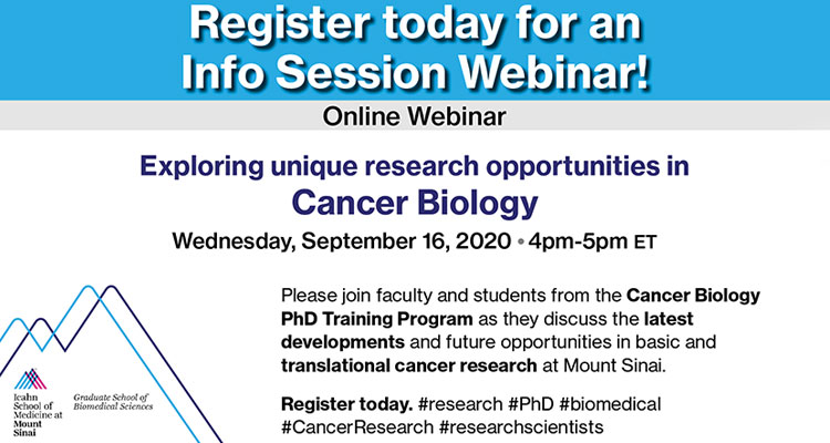 Exploring Research Opportunities in Cancer Biology