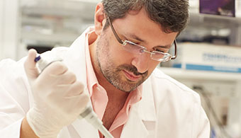 Image of male researcher in lab