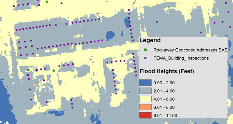Photo map of the Rockaways with data points