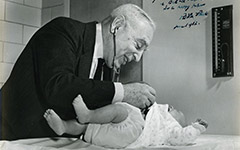 Samuel Karelitz, MD, and Bela Schick first to advocate continuous intravenous fluid administration to combat infant dehydration as opposed to intermittent infusion, resulting in reduced mortality rates by 75 percent.