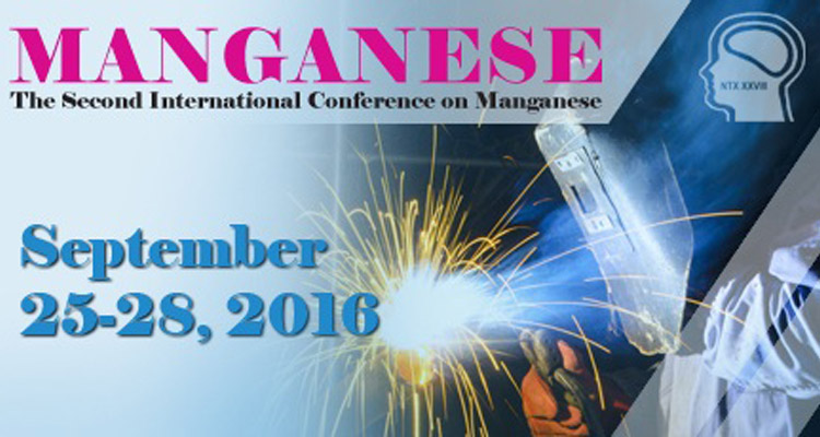 Manganese conference poster with conference dates and image of workers