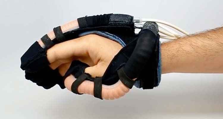 Bio-inspired Soft Robotic Glove for Rehabilitation and Assistance of Spinal Cord Injury Individuals