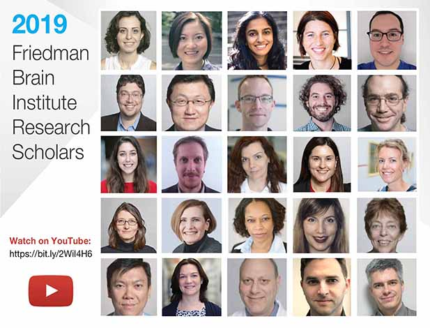 2019 Friedman Brain Institute Scholars. Watch it on Youtube.