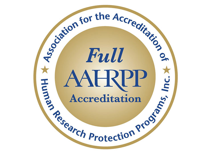 Awarded Full Accreditation by AAHRPP logo